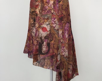 Multicolor Christian Lacroix Asymmetric Skirt