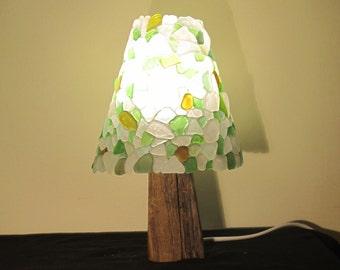 seaglass lamp (round)