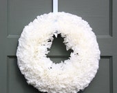 White Wreath, Coffee Filter Wreath, Shabby Chic Wreath, Wedding Decor, Romantic Decor, White Decor, Romantic Wreath, Shabby Chic Deor