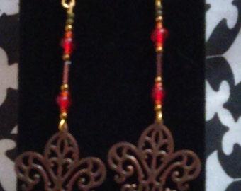 Fleur de lis Drop Earrings
