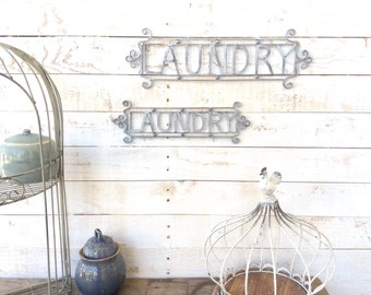 "Iron ""Laundry"" Sign, Home Decor, For The Home, Customize"