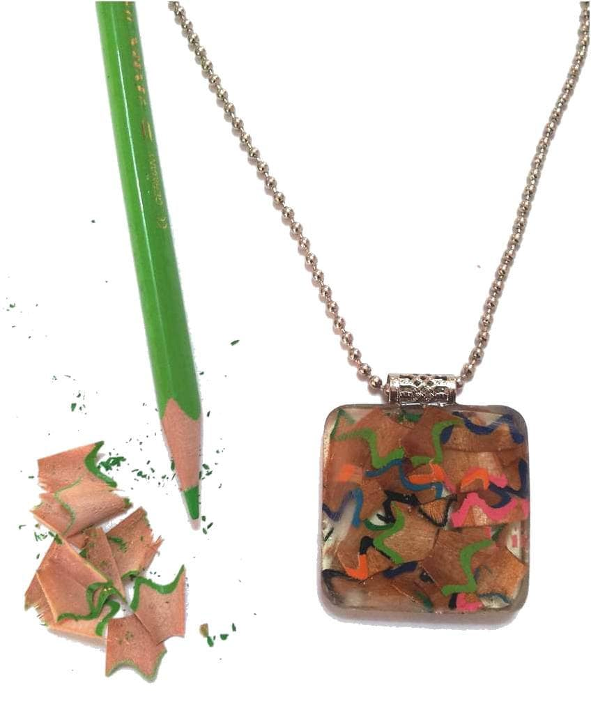 Resin Jewelry Upcycled Jewelry Resin Necklace By Inesidesign
