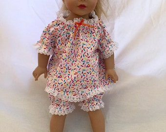 "18"" Doll Pajamas"