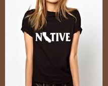 california shirt, native shirt, california tshirt, california tees, state shirts, home t, map shirt, unisex, birthday gifts, teacher shirt