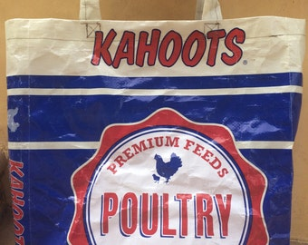 Up-cycled Chicken Feed Bag Tote
