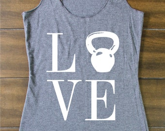 Fitted Tank - Love Crossfit Tank - Crossfit Tank - Wod Tank - Crossfit - Crossfit Tank Tops - Workout Tank - Gym Tank - Workout Tanks For Wo