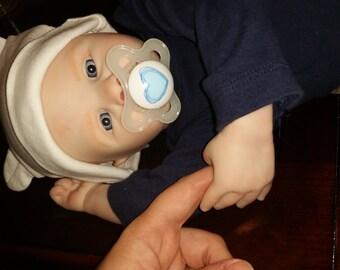 Custom made, blue eyed reborn baby boy