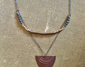 Brass Coil Necklace