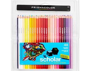 48 Prismacolor Colored Pencils - Prismacolor Scholar | Colored Pencil Set, Prismacolor Pencils, Color Pencils, Coloring Pencils, Drawing
