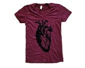 Heart T-Shirt - Anatomical Heart Ladies SOFT American Apparel Shirt - Available in sizes S, M, L, XL