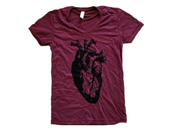 Heart T-Shirt - Anatomical Heart Ladies SOFT Shirt - Available in sizes S, M, L, XL