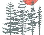 Screenprint Poster My Morning Jacket Silkscreen Hand Printed Rock Poster - Evergreen and Sun Poster