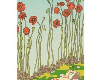 poppies silkscreen