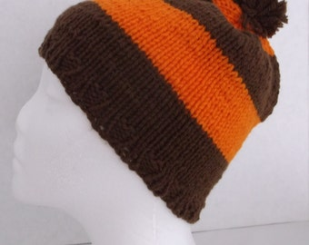 Hand Knitted Beanie for Fall #F/H-159-B