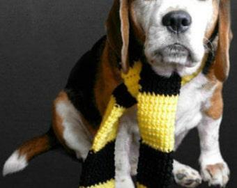 Yellow Black wizard dog scarf (Hufflepuff inspired)