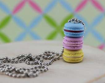 Macarons In A Stack Necklace