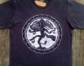Shiva batik organic cotton bio t shirt yoga men's clothing vintage black hand drawn hand painted & hand dyed individually