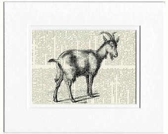 goat dictionary page print