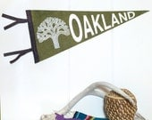 Oakland Pennant Silkscreen on Wool Felt