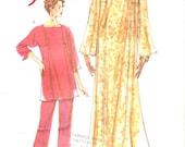 Boho caftan dress top pants Hippie hipster casual style Koko Beall Designer sewing pattern Vogue 7335 Bust 36 to 40 UNCUT Boho wedding beach