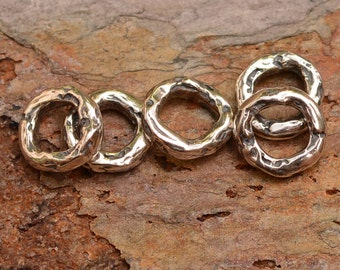 Small Closed Jump Rings OD 7mm and ID 4mm in Sterling Silver, JR-331