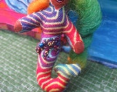 Mermaid Doll pin Cute Dollie Made By Tessimal Bejeweled with Tiny Beads