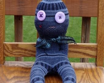 Sock Creature Doll - handmade Weird, Strange Sock Monster - Valerie the Sock Doll