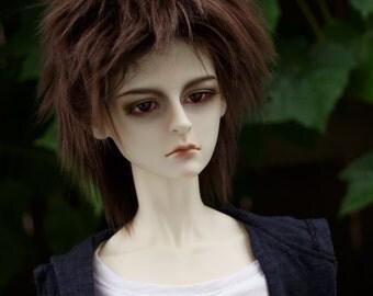 Short Brown doll wig SIZE CHOICE faux fur wig BJD