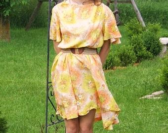 Buttercup Crepe Dress (Vintage)