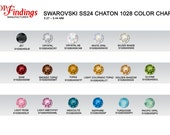 48pcs x Swarovski Round SS24 Multi Colors  Xilion Crystal1028 chaton 24SS (S102824SS)