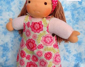 Maya, Waldorf inspired Toddler Doll , All Natural Materials