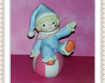 NEW ITEM Clown Figurine - HOMCO Series 1451 Vintage Porcelain