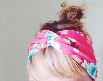 TopTwist Headband - Turban Headband - Soft Stretch Fabric - Floral Headband - Hairband - Headwrap - Twisted Headband