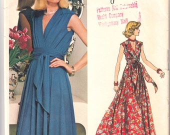 "Vintage Sewing Pattern Vogue Americana 1116 Original Jerry Silverman Dress Size 10 32 1/2"" Bust - Free Pattern Grading E-book Included"