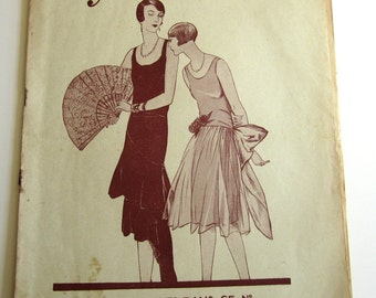 1920's Vintage French Magazine Mode Pratique September, 1929 Flapper Bathing Beauty Fashion and Sewing