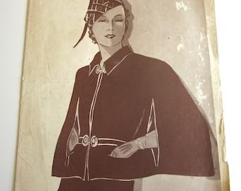 Vintage French Magazine Mode Pratique July, 1935 Fashion Sewing and Knitting