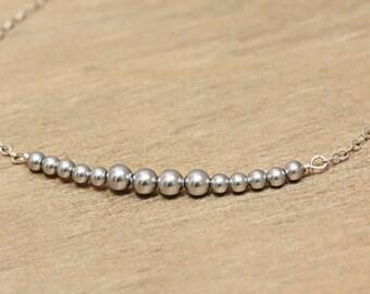 Swarovski Pearl and Rhinestone Bridesmaid Bracelet (a)