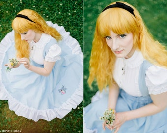 Lolita Victorian Blouse -  Steampunk Alice in Wonderland Peter Pan Collar- Petite to Plus size -Custom to Your size - XS-5XL
