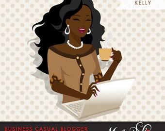 African American dark skin Bride Clipart. Bride to be wedding