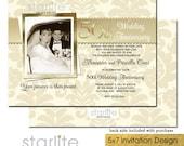 50th Wedding Anniversary Invitation, Photo 50th Wedding Anniversary Invitation, Golden Anniversary Invitation, Golden 50 Anniversary Invite