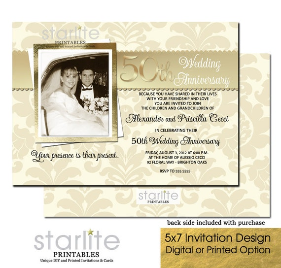 50th wedding anniversary invitation photo 50th wedding anniversary