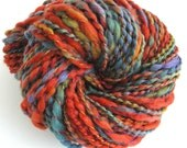 Handspun Yarn Hand Dyed Wool Super Bulky Yarn 193 yards -  Autumn Leaves