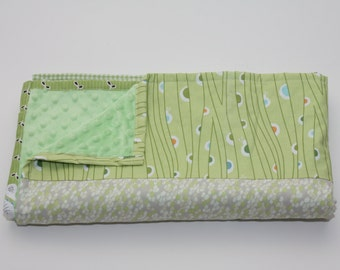 Minky Baby Quilt - Bug/Nature