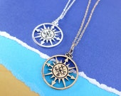 Compass necklace, Graduation gift, compass charm, Friendship necklace, best friends gift, 2016 graduate gift