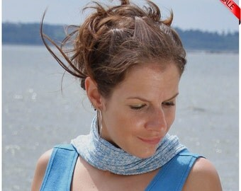 ON SALE Summer sky shades bamboo skinny scarf