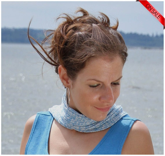 ON SALE Summer sky shades bamboo skinny scarf