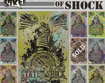 Sike Style State of Shock Spray Paint & Letterpress Print Limited Edition
