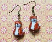 FOXY - Fox Earrings- Woodland Hipster Jewelry