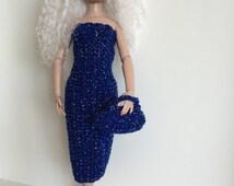 Handmade Ellowyne Wilde Gene Poppy Parker Crochet Dress Purse