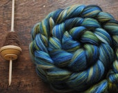 STARRY NIGHT - Custom Blend Merino and Tussah Silk Combed Top Wool Roving for Spinning or Felting